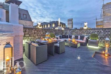 Private roof terrace at Wardour Street, Soho, W1F, 0UF