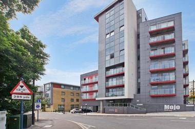 Modern one bedroom fifth floor apartment at Mojo, Wick Road, Old Ford, 2PZ